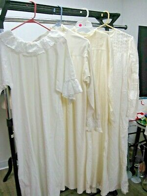 Antique Edwardian Victorian Clothing Lot Vintage White Victorian nightgown LOT