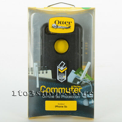 OtterBox Commuter Shockproof Hard Shell Snap Cover Case for iPhone 5c ONLY Black