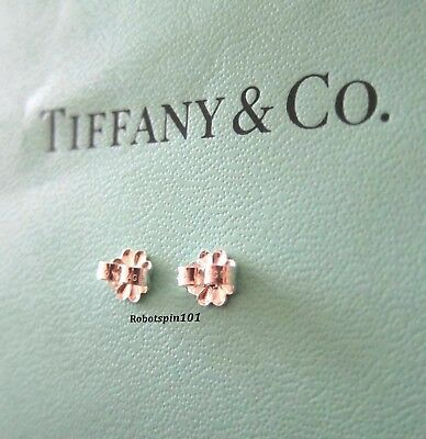dd397d570 TIFFANY & CO. Sterling Pair of Butterfly Earring Backs Hallmarked AG ...