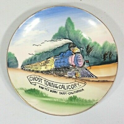 Vintage KNOTTS BERRY FARM GHOST TOWN  CALICO RY  TRAIN HAND PAINTED Souvenir