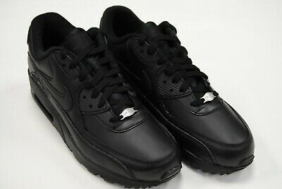 f6721b85a7 [302519 001] New Men's Nike Air Max 90 Leather Triple Black Black Le1195