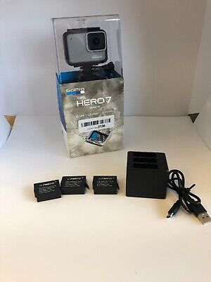 GoPro HERO7 Waterproof Digital Action Camera - White (CHDHB-601) + 3x Batteries