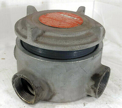 "1 Used Adalet Xjat690 Explosion Proof Junction Box 1 1/2"" Conduit *Make Offer*"