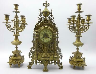 19th Century French Japy Freres Ormolu Clock Garniture Set