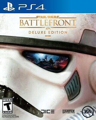 Playstation 4 Ps4 Video Game Star Wars Battlefront Deluxe Edition Brand New