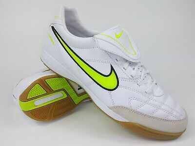 0776cf38b Nike Mens Rare Tiempo Mystic lll IC 366184 170 White Green Indoor Soccer  Shoes