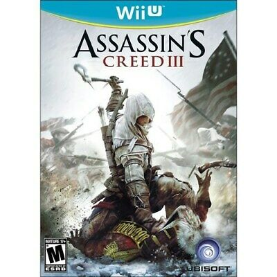 Nintendo Wii U Game Assassin's Creed Iii 3 Brand New & Factory Sealed