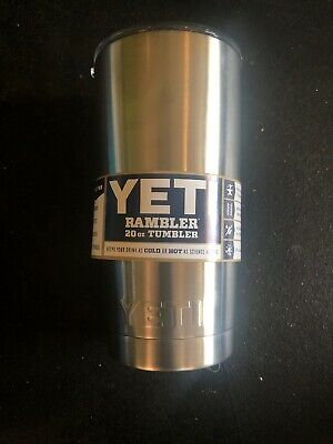 New Yeti Rambler Tumbler 20oz Stainless Steel Tumbler with Lid - Free Shipping