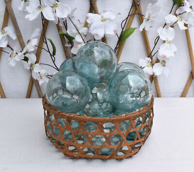 """Vintage Japanese 3.5"""" Glass Fishing Floats, Lot of 10"""