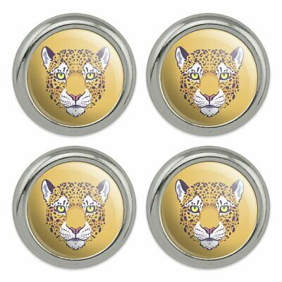 Graphics and More Gold Spotted Leopard Face Oval Tow Trailer Hitch Cover Plug Insert