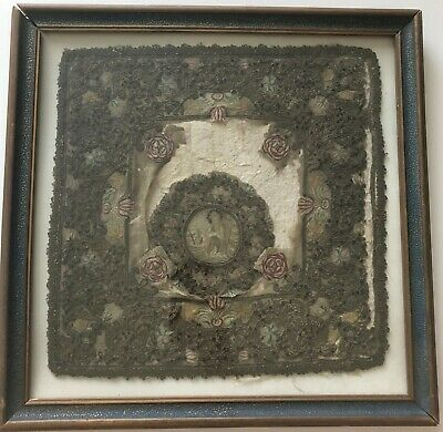 FINE 16th century CHASUBLE fragment SAINT & MEMENTO MORI
