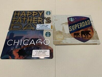 Starbucks Chicago Card 2019 + Father's Day Cards 2019