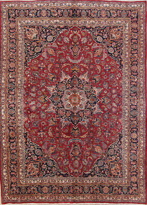 VINTAGE Traditional Floral Signed Persian Area Rug Hand-Knotted Oriental 10'x13'