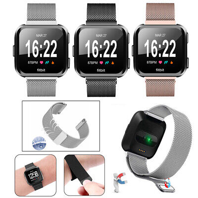 Milanese Loop Mesh Wrist Watch Band for Fitbit Versa Stainless Steel Metal Strap