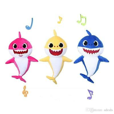 "Plush Baby Shark Singing MUSICICAL Stuffed Animal - 11"" - English - NEW 3 colors"