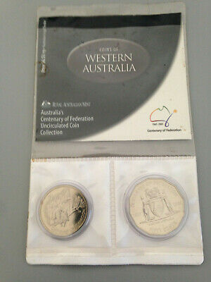 2001 Centenary of Federation WA - State Uncirculated Coin 20c, 50c