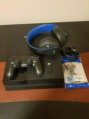 PS4 Playstation 4 500GB Jet Black + Wireless 2.0 Headset + Controller + 7 games