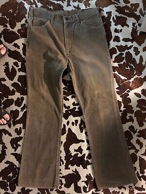 bbb825f0 Vtg Original 70s LEVI's 646-1529 Brown Bellbottoms Cord Jeans W36
