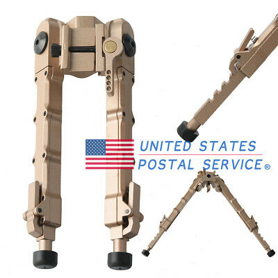 Adjustable Bipod 7.25-9 inch QD Tactical Picatinny Rail Flat Stud Mount Tan USPS