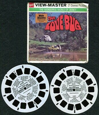 Vtg. View-Master (3) Reels w/Booklet - Disney The Love Bug- Packet -  B501
