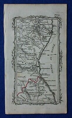 Rare antique road map SCOTLAND, EDINBURGH, FIRTH OF FORTH, Armstrong, 1776