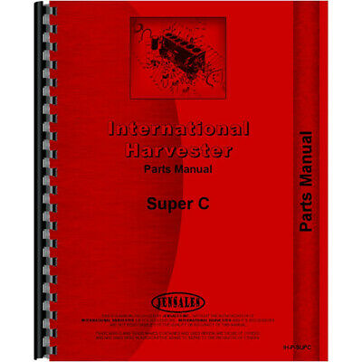new international harvester c tractor parts manual (1951 to 1954)