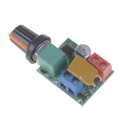 1X Mini Dc 5A Motor Pwm Speed Controller 3V-35V Speed Control Switch Led Dimm FE