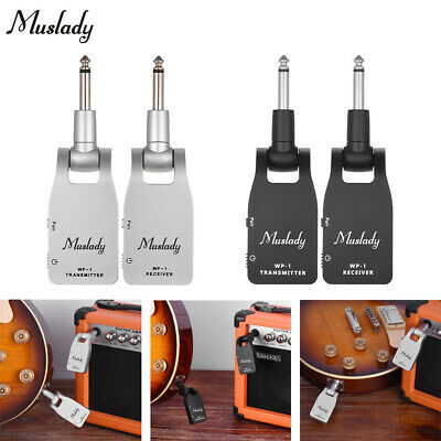 Muslady 2.4G Wireless Guitar Bass System Transmitter& Receiver Rechargeable Z9F8