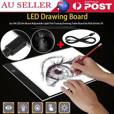 A4 LED Art Board Adjustable Light Pad Tracing Drawing Table Board for Kid Artist