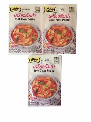 Spicy Thai Herb Paste Tom Yum Prawn Soup Healthy Delicious Party Camping 3*30g