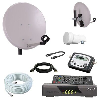 Camping SAT Anlage 40 Spiegel mit HD Receiver SAT Finder single LNB 10m Kabel