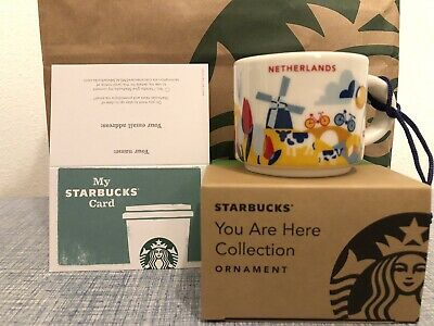 Starbucks City Mug YAH You Are Here Mug Cup Netherlands Ornament 2oz NEW