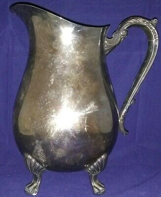 Antique F. B. Rogers Silver Co Silver Plate Water Pitcher With Ice Guard