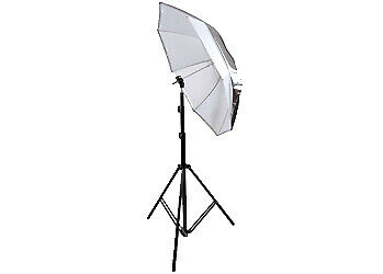 "Glanz Flash Kit w/ Stand, Umbrella Holder, Reversible 2 in 1 36"" Umbrella"