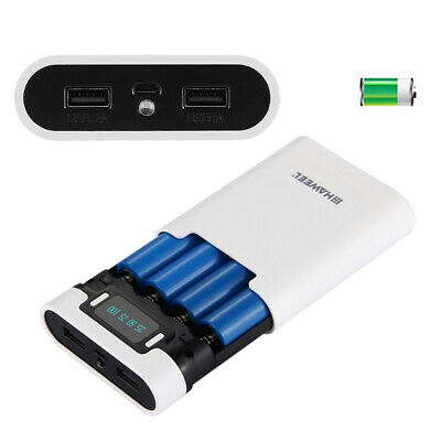 LCD 10000mAh Mobile Power Bank for iPhone Samsung 18650 Rechargeable Battery
