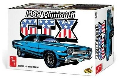 "AMT 1065  1969 ""Dirty Donny"" Plymouth GTX plastic model car kit 1/25"