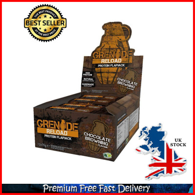 Carb Killa Spread Grenade Reload Protein Flapjacks 12 X 70 G Bars Chocolate Gift