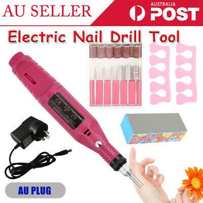 Professional Electric Nail Drill Pen File Kit Manicure Pedicure Band Tool Set AU