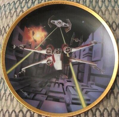 Ltd Hamilton Collection Star Wars Space Vehicles RED FIVE X-Wing Fighter Plate