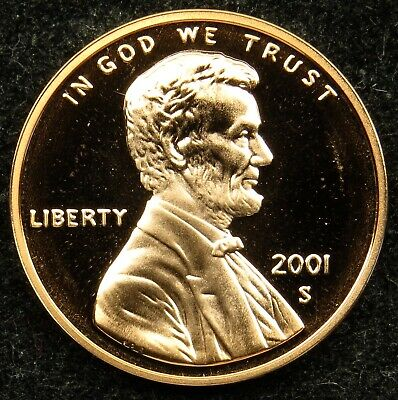2001 S Proof Lincoln Memorial Cent Penny (B02)