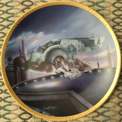 Ltd #0761A Hamilton Collection Star Wars Space Vehicles THE SLAVE I Plate