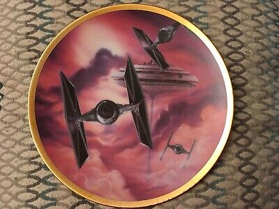 Ltd #2676A Hamilton Collection Star Wars Space Vehicles 'TIE FIGHTER' Plate