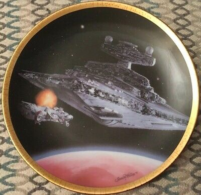 Ltd #1450A Hamilton Collection Star Wars Space Vehicles 'STAR DESTROYER' Plate
