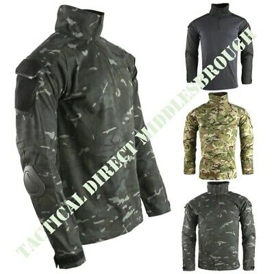 British Army Style Spec Ops Ubac Shirt With Elbow Pads Mens S-2Xl Mtp Btp Camo