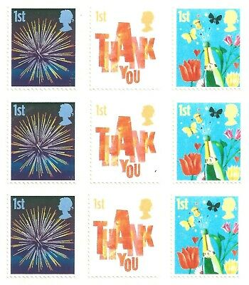 9 x  1st Class | Royal Mail GB Stamps (Peelable) unfranked  value value £6.30