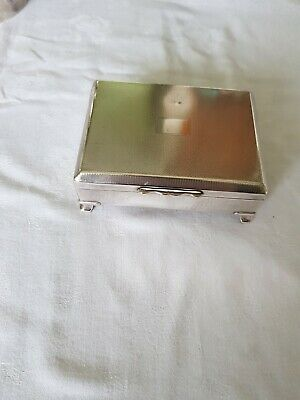 Vintage Art Deco Aristocrat Silver Plated Epns English Cigarette / Trinket Box