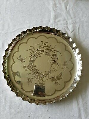 Lovely Antique Victorian Aesthetic Design Electro Plated Salver