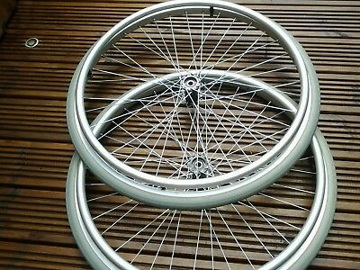 A Pair Of  Invacare Action  24 X 1/38 Wheelchair Wheels