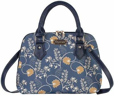 Signare Tapestry Canvas Convertible Austen Blue Shoulder Women's Fashion Handbag
