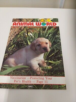 Animal World RSPCA Magazine March / Aprill 1988 Good Condition Labrador Pet Zoo